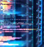 Programming data design elements in a server room background